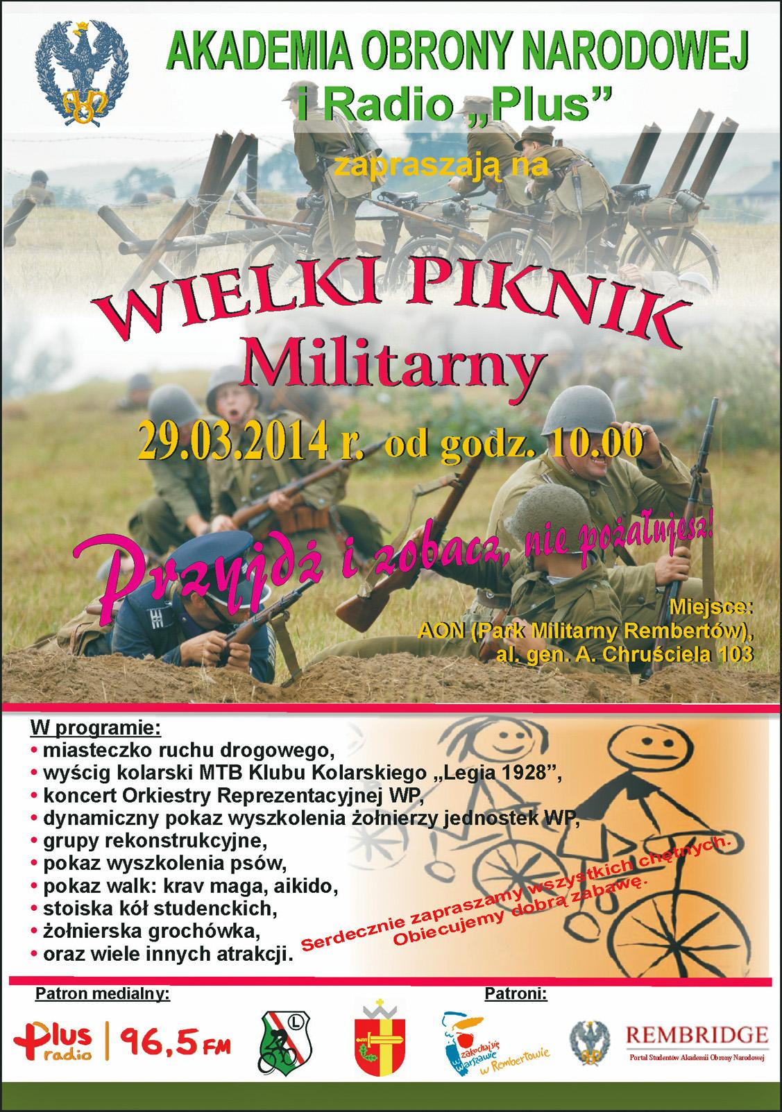 Piknik Militarny - plakat